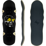 Landyachtz 2021 ATV Stone God Smiles Longboard Skateboard Deck w/Grip