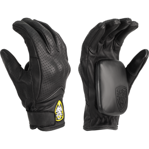 Sector 9 Downhill Division Lightning Slide Gloves + Palm Pucks and Travel Bag