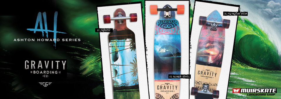 Get barreled with the new 2016 Gravity Skateboards. Available at MuirSkate.com