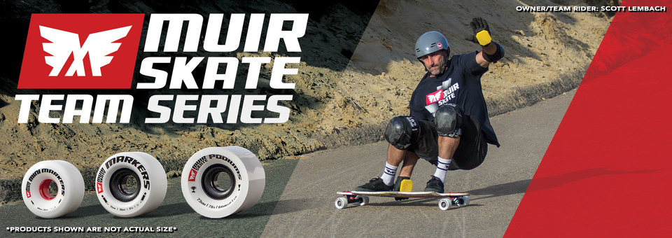 "Check out our New MuirSkate ""Team Series"" Wheels. Only available at MuirSkate.com!"
