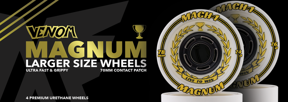 Venom 78mm Mach 1 Magnum Wheels are now available at MuirSkate.com!
