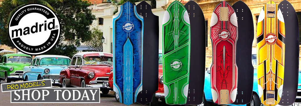 MADRID PRO MODEL LONGBOARD DECKS!